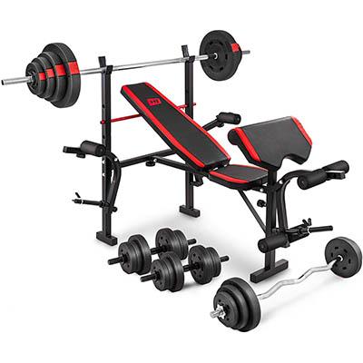 banco de pesas plegable completo y profesional