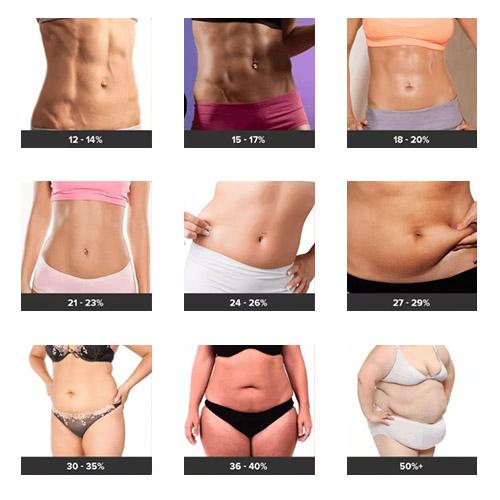 porcentaje de grasa corporal mujeres