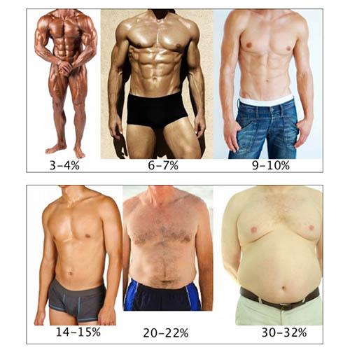 porcentaje de grasa corporal hombres