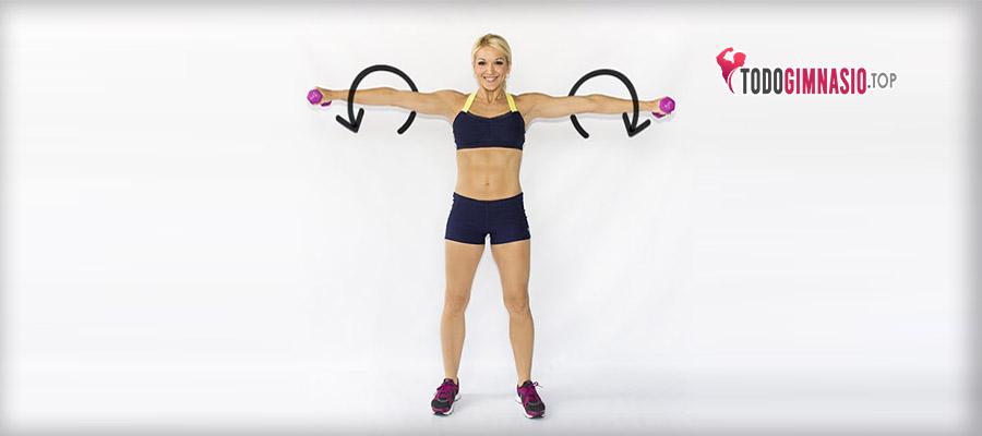 ejercicios para trapecio girar brazos