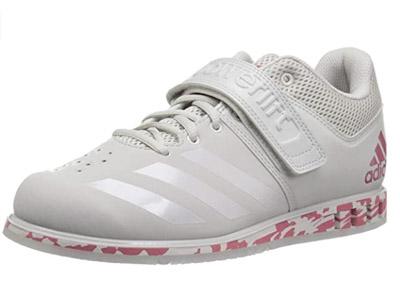 zapatillas adidas de halterofilia blancas con rosa