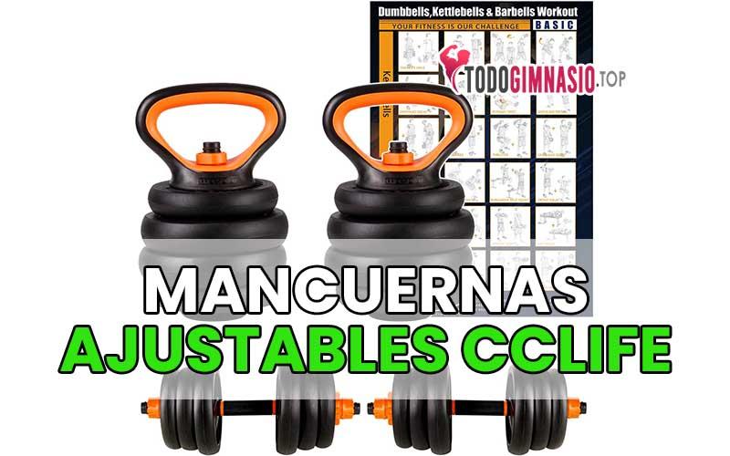 CCLIFE: Mancuernas ajustables con pesas y barras