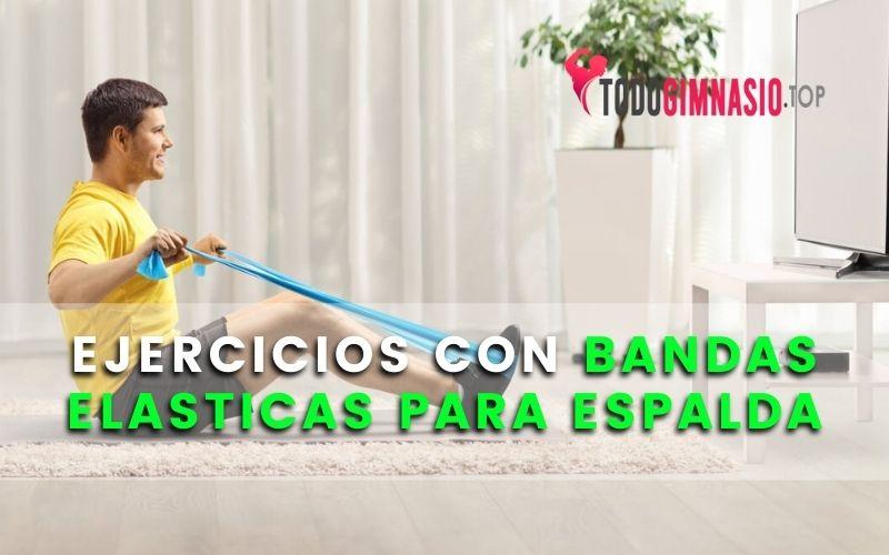 EJERCICIOS CON BANDAS ELASTICAS para espalda